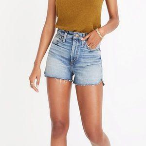 Madewell The Perfect Jean Short: Tulip Hem Edition